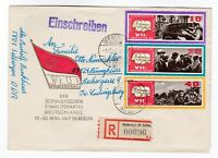 DDR East Germany FDC 1967 Congress of SED's Party first day cover Registered GDR