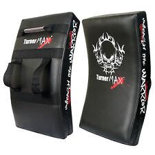 TurnerMAX Kick Boxing Pad Sciopero Scudo Muay Thai Gear CURVO NERO