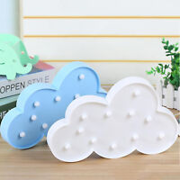 Cute 3D Cloud LED Night Light Wall Table Desk Lamp Baby Kids Bedroom Home Decor