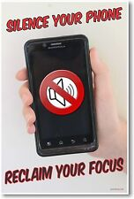 Silence Your Phone - Reclaim Your Focus - NEW Classroom Motivational Poster