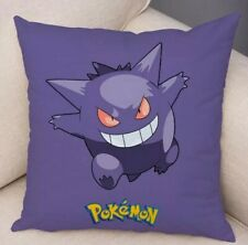 "18""x18"" Pokemon Pillow Case Throw Cushion Cover - Gengar Purple"