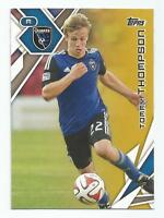 2015 Topps MLS Soccer Tommy Thompson Gold Parallel #d 21/25 SAN JOSE EARTHQUAKES