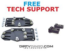 Dingo Sliders LS Swap Mounts 67-72 2WD Trucks with Rubber Mounts Powder Coated
