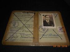 Führerschein 1938 Wiesbaden mit Lichtbild