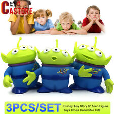 "3Pcs/Set Disney Toy Story 6"" Alien Figure Toys Xmas Collection Display Gift"