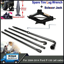 Car Wheel Remove Jack Iron Lug Nut Wrench Scissor Jack Set for 04-2014 Ford F150