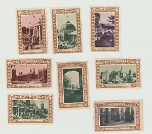 Canada- x 6 Canadian & Vancouver poster stamps all clean see both scans