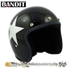 Casco Bandit Jet Star Black Cafè Racer