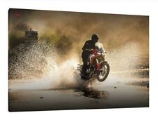 2017 Honda Africa Twin CRF1000L - 30x20 Inch Canvas Framed Picture Print
