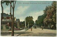 El Dorado Street View Trolley Stockton California CA Vintage 1900's Postcard