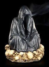Reaper Figur Räucherkegelhalter auf Schädelberg - Sensenmann Gothic Deko