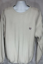 Chaps Ralph Lauren White Ivory Hand Framed Knit Sweater Size XL
