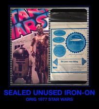 SEALED Orig 1977 STAR WARS R2D2 C3PO Space Droids UNUSED VTG t-shirt iron-on NOS