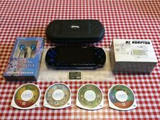 Sony PSP 2000 blue / Black Handheld System with Games
