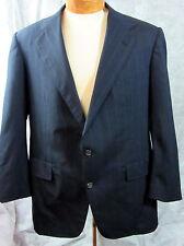 Ralph Lauren POLO Navy Blue Chalk Stripe Mens 2 Button Sport Coat Jacket 44R 44