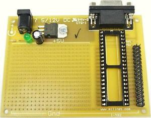 Parallax BS2 BASIC STAMP 40 Pin Project PCB, Atom 40 Arduino Electronics Project