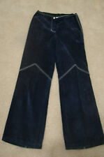 Vintage Casual Country Shop Groovy Funky Hippie Blue Suede SS Pants 12 Spain