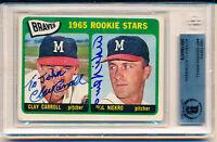 1965 Topps Phil Niekro Rookie Autographed HOF Rookie Card Beckett