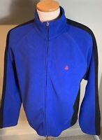 Brooks Brothers 346 Men's Blue Full Zip Fleece Jacket Size XL