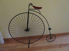 "ORIGINAL C. JERE Metal Bike Penny Farthing Wall Sculpture Signed 1982 31""W 27½""T"