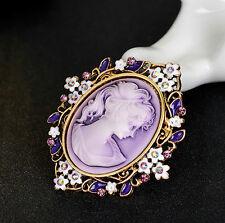 Women Lady Vintage Cameo Brooch Pin Pendant Party Fashion Xmas Jewellery Uk