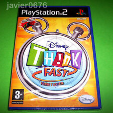 DISNEY THINK FAST NUEVO Y PRECINTADO PAL ESPAÑA PLAYSTATION 2 PS2
