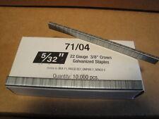 "Standard Upholstery Staples 71 Series 3/8"" Crown 5/32"" Leg Galvanized 22 Gauge"