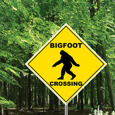 """Big Foot Crossing Sign - Various Funny 'Crossing' 22"""" Diamond Shaped Signs"""