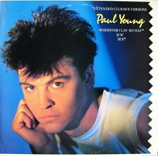 """Paul Young-Wherever I Lay My Hat-Sex-12"""" Single-Shrink"""