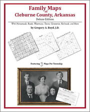 Family Maps Cleburne County Arkansas Genealogy AR Plat