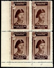 Corpo Polacco 1946 n. 17 quartina - varietà (m718)