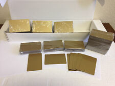 500 x CR80 .30 Mil Graphic Quality Gold  PVC Credit Card ID PRINTER Sealed