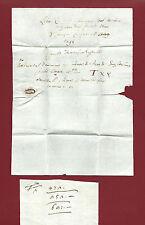 Lettera Prefilatelica Passaggio Proprietà Famiglia Cocchi Donati e Martini 1595