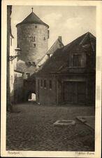 Bautzen alte Postkarte Sachsen AK 1910 Straßenpartie am Nikolai Turm ungelaufen