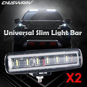 7inch 90W Spot LED Slim Flood Light Bar Work Lamp Driving Offroad SUV ATV Truck