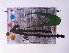 "JOAN MIRO ""TOWARD THE LEFT"" Signed Limited Edition Lithograph Art"