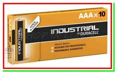 10 Duracell Industrial AAA Procell Pile Batterie Alcaline MiniStilo ID2400 LR03