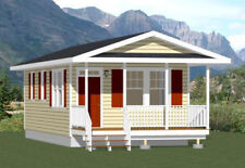 16x32 Tiny House -- 511 sq ft -- PDF Floor Plan -- Model 2D