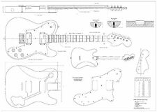 Fender tele deluxe 72 - Electric Guitar Plans full scale detailed  FREE SHIPPING