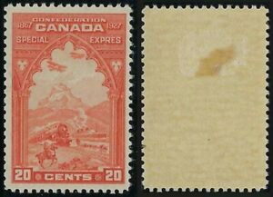 Scott E3: 20c Orange 1927 Confederation Issue Special Delivery, VF-HR