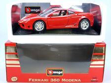 BBURAGO BURAGO 3358 FERRARI 360 Modena 1999 1/18 MIB NUOVO NOS OVP ST 1306-14-18
