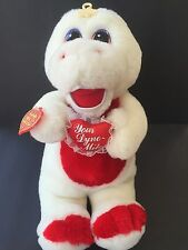 Cuddle Wit Creation Dinosaur Plush Toy You're Dyno-mite White Red Hearts