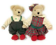 1995 Fluffy & Fuzzy Vander Bear Twins New England Country Christmas Plush Bears