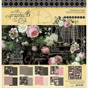 Graphic 45 Elegance 12 x 12 Collection Pack - Paper Pad & Stickers