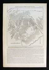 Harper's Civil War Map - First Battle of Bull Run Manassas Virginia Topographic