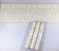 Gramercy Wallpaper Border Beige Grey Greige Tan Diamond Vine Scroll 3 Roll Lot