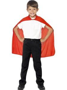 Rot Kinder Umhang Superheld Kostüm Kinder Zubehör Einheitsgröße