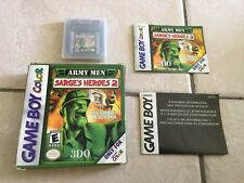 Army Men: Sarge's Heroes 2 (Nintendo Game Boy Color, 2000) GBC COMPLETE RARE!!!