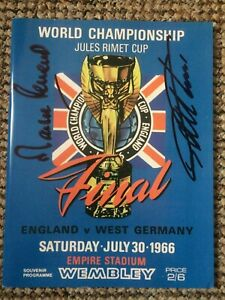 1966 World Cup Final Programme Reprint Signed By Geoff Hurst & Martin Peters (1)