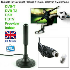 Portable TV Digital HD Freeview Aerial Ariel DAB/FM Indoor Outdoor Car House